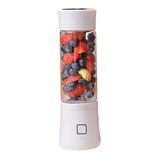 Batidora De Vaso Portátil Mini Licuadora Eléctrica Recargable Juice Blender Con USB 480ml Para Hacer Smoothie Zumos De Fruta Y Verdura Cuchilla De Acero Inoxidable(White)