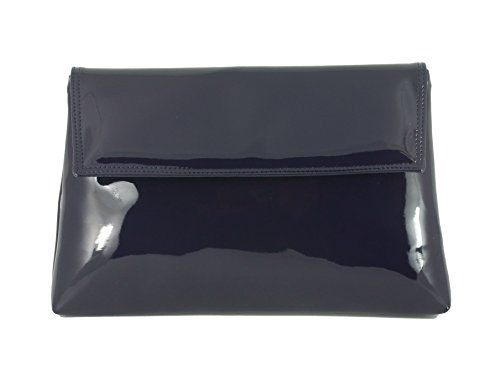 LONI , Damen Clutch grau anthrazit M navy