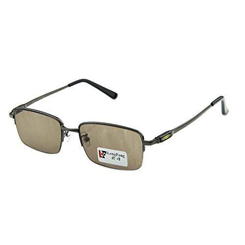 SCJ Die Titan-Metall-Legierung Brille natürlichen Kristallspiegel Scheibe Mann die Halbrahmen-Sonnenbrille Rock die Brille Laufwerk Brille