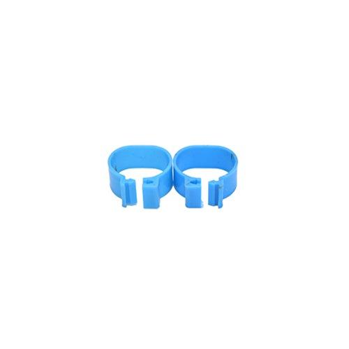 Fußtrageringbänder für Geflügel, Hühner, Tauben, Vögel, 100 Stück, 16mm blau (Vogel Bein Bänder)