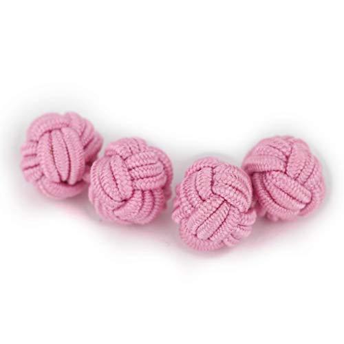 Insignitum Seidenknoten Manschettenknöpfe | Damen Knoten | rosa rosé | Stoff Seidenknötchen | Handgefertigt | Für jedes Hemd mit Umschlagmanschette Manschette | Hochzeit
