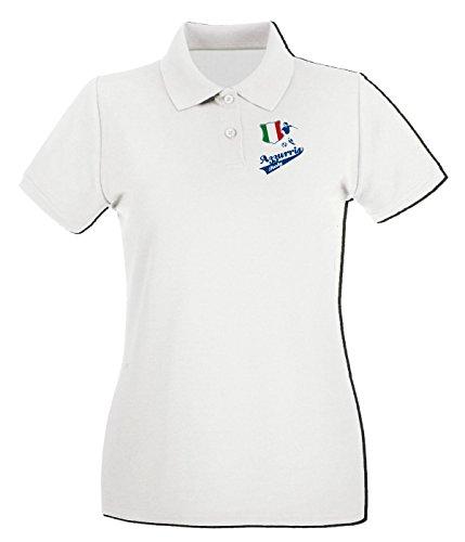 T-Shirtshock - Polo pour femme WC0085 ITALIA ITALY Blanc