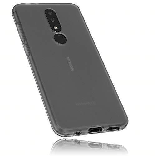 mumbi Schutzhülle für Nokia 5.1 Plus Hülle transparent schwarz