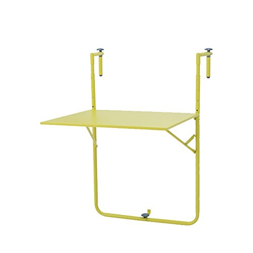 Table pliante en métal Balcon extérieur Balançoire Table à suspendre Table d'art en fer Bureau d'ordinateur simple moderne Simple ( Couleur : Rouge )