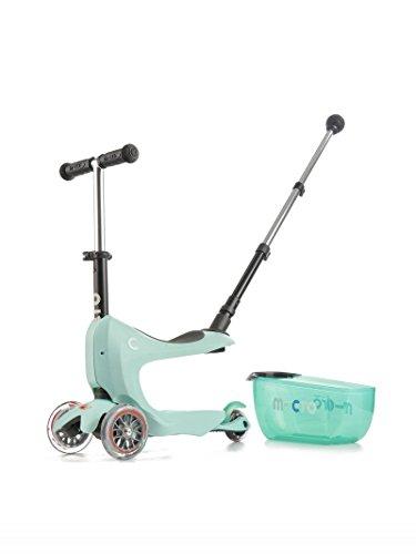 Micro Mobility - Mini 2Go Deluxe - Trottinette Enfant - Le Porteur innovant avec Barre de poussée Qui Se transforme Facilement en Trottinette