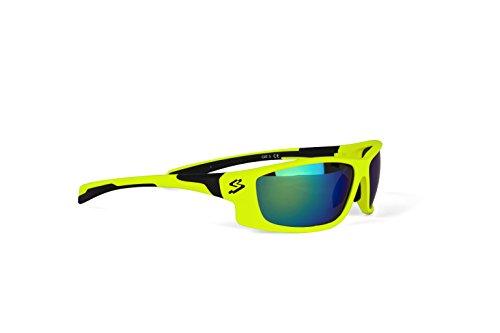 Spiuk Spicy - Unisex fietsbril, mat geel / zwart