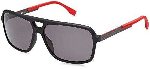 BOSS Hugo Herren 0772/S 3H HXE Sonnenbrille, Schwarz (Black Carbon/Grey Pz), 60