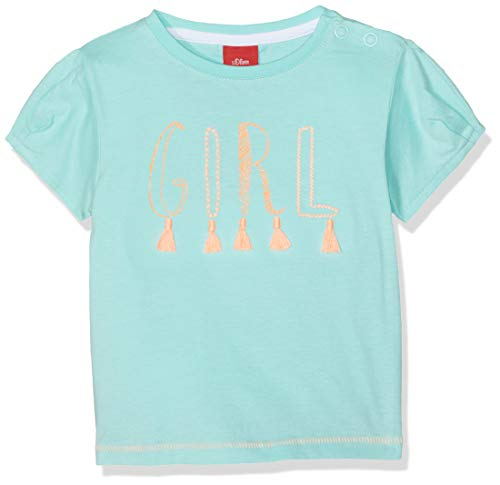 s.Oliver Baby-Mädchen 65.904.32.5641 T-Shirt, Türkis (Mint 6117), (Herstellergröße: 62) -