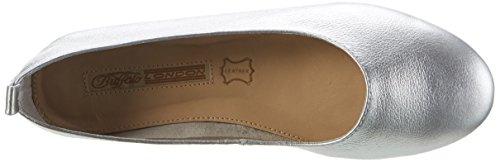 Buffalo Zs 6272-16 Soft Tumbled, Ballerines Femme Argent (Silver)