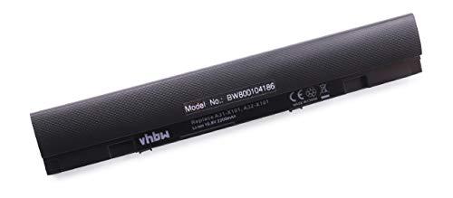 vhbw Li-Ion Akku 2200mAh (10.8V) schwarz passend für Notebook Asus Eee PC X101, Eee PC X101C, Eee PC X101CH, Eee PC X101H wie 0B20-013K0AS, A31-X101. (Asus Eee Pc Ersatzteile)