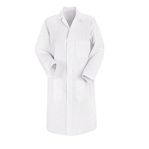 Blouse chimie blanche 100% coton laboratoire unisexe manches longues adulte étudiant scolaire