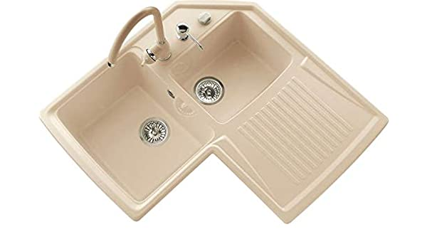 Vasca Da Bagno Harmony : Lavello cucina angolare vasche con gocciolatoio da cm