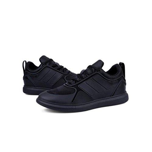 Hommes Casual Mens chaussures de formateurs lacent des chaussures de sport Invisible Hauteur augmentent des chaussures de marche ( Color : Blue-43 ) Black-37