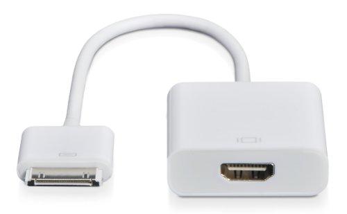 Donzo 30-polig Connector auf HDMI Adapter für Apple iPhone 4/4S/Apple iPad 2/3/Apple iPod Touch 4 weiß