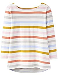 721527dee10864 Joules Cream Multi Stripe Harbour 3 4 Sleeve Top (18)