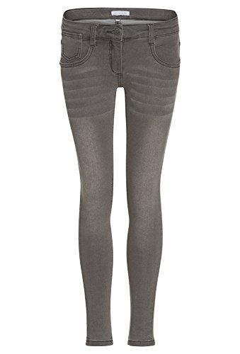GATO NEGRO Joggdenim für Mädchen - Skinny Jogg-Denim Jeans Hose Kinder Stretch eng Röhre hellgrau,164 (Eng Stretch Kinder)