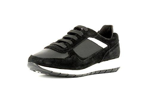 Geox Damenschuhe D CONTACT D6406B Sportlicher Damenhalbschuh und Sneaker (BLACK), EU 37