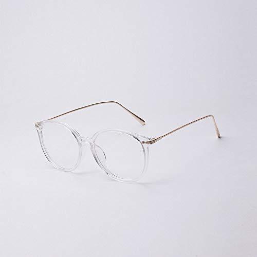 Santonliso Big Frame Pink Brille Myopie Brillengestell mit klarer Linse für Frauen (Farbe : Clear)
