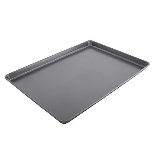 Chicago Metallic 5233075 Non-Stick Extra Large Cookie Baking Sheet, 15-Inch-by-21-Inch, Metallic Gray Chicago Metallic Non Stick Jelly Roll Pan