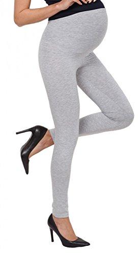 Zeta Ville - Femme maternité leggings pantalon empiècement extensible - 975c Gris Chiné