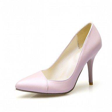 Talloni delle donne Primavera Estate Autunno Dress Comfort in similpelle ufficio & carriera Stiletto Heel Casual Nero Rosa Bianco Pink