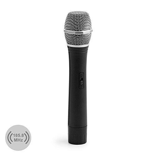 auna FU-2-B VHF-Funkmikrofon Ersatzmikrofon Handmikrofon (für eine Sendefrequenz von 185,80 MHz, 100...