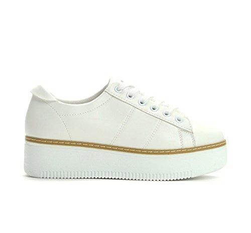 Luxus Designer Sportschuhe Plateau Sneaker Turnschuhe Damenschuhe Leder 8191 (41, - Luxus-sneakers