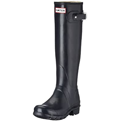 Hunter Unisex-Adult Original Tall Wellington Boots, Navy, 3 UK