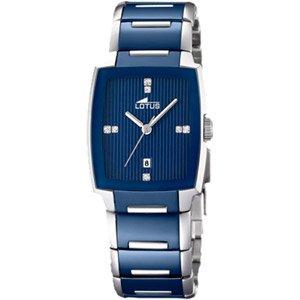 Lotus l15591-1-Reloj de pulsera de mujer, correa de cerámica color azul