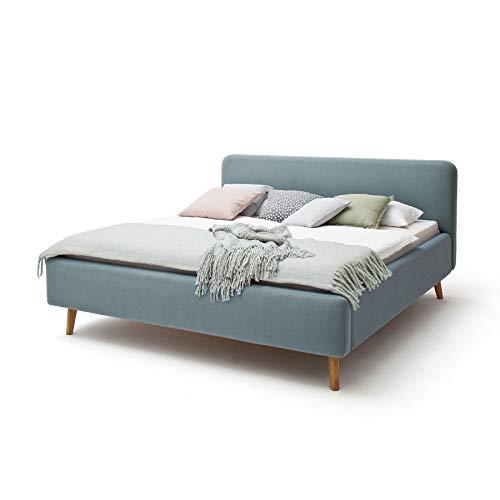 Meise Möbel Polsterbett Mattis 140x200 cm Landhausstil Webstoff Taupe