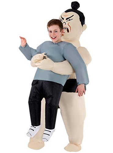 Ringer Kids Kostüm - Morph MCKPISW Aufblasbares Kostüm, Unisex, Sumoringer, Einheitsgröße Kinder