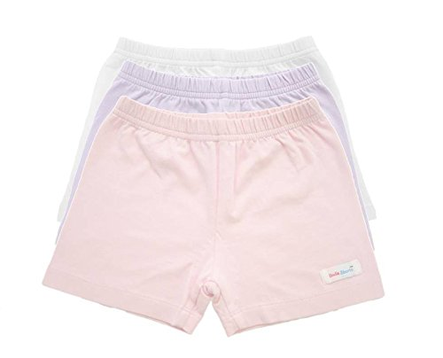 UndieShorts Girls Under Shorts - Lavender, White, Pink 3 Pack Spring and Summer Collection