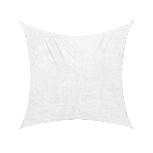 Jarolift Voile d'ombrage | Toile d'ombrage | Carré | Tissu respirant | 500 x 500 cm, blanc crème