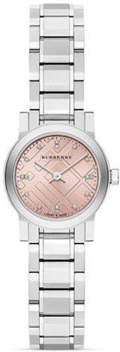 BURBERRY BU9223 - Reloj para mujeres, correa de acero inoxidable color plateado
