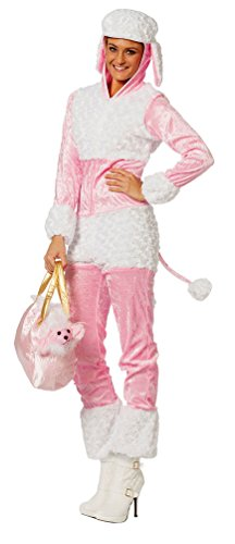 Pudel Kind Kostüm Rosa - Karneval-Klamotten Pudel-Kostüm Damen Hund Hunde-Kostüm Karneval Damen-Kostüm Größe 36