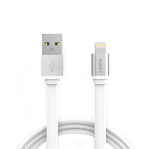 AUKEY-Cavo-iPhone-Apple-MFi-certificato-2m-Piatto-Cavo-Lightning-per-iPhone-7-7-Plus-6-6-Plus-6s-6s-Plus-iPad-Bianco