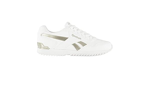 c399f0085f8 Official Shoes Reebok Royal Glide Ripple Clip Trainers Womens White Gold  Trainers Sneakers  Amazon.co.uk  Sports   Outdoors