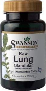 Swanson Raw Lung Glandular (250mg, 60 Capsules) from Swanson Health Products