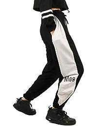 Rolanko Pantalones Deportivos para niñas con cordón Pantalones Deportivos Deportivos para niños con Bolsillo para niños Pantalones de Hip Hop Streetwear