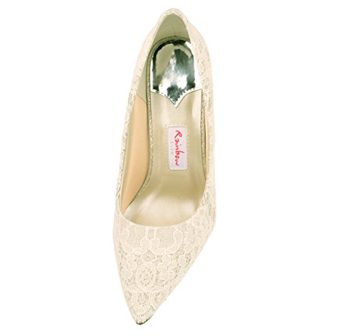 Rainbow Club Brautschuhe Giverney Pumps Stiletto Ivory Creme
