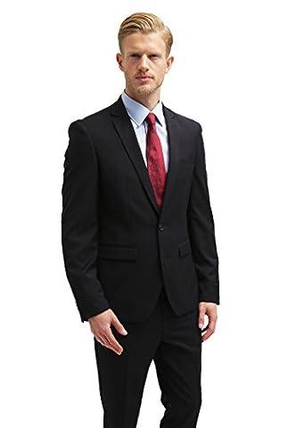 Pier One Costume pour homme slim fit avec Veste & Pantalon - noir - 54