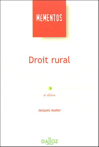 Droit rural par Jacques Audier