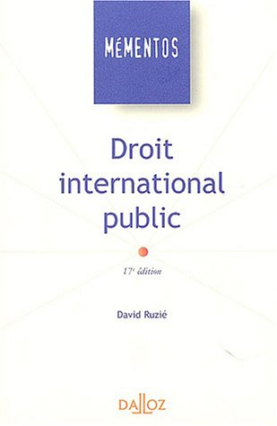 Droit international public par Ruzié