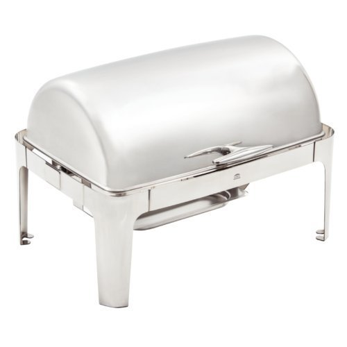 - GN 1/1 chafer. Supplied with water pan, food pan, cover and two chafing fuel holders. Capacity: 9Ltr. by Olympia (Chafing Dish Pan)
