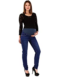 ESRA Damen Jeans Schwangerschaftshose Umstandshose Jeans für Schwangerschaft Maternity Hose Jeans J296