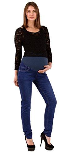 Schwangerschaftsjeans Slim Fit blau