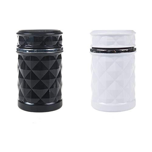 Auto LED-Lichtaschenbecher Autoauslass Aschenbecher Mode-Design Schwarz Und Weiß 11 * 7,5 Cm