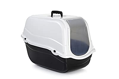 Beeztees Cat Litter Pan Romeo, 54 x 33 x 42 cm, Black/ White_P
