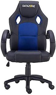 كرسي العاب داتا زون بتصميم مريح بلون اسود وازرق