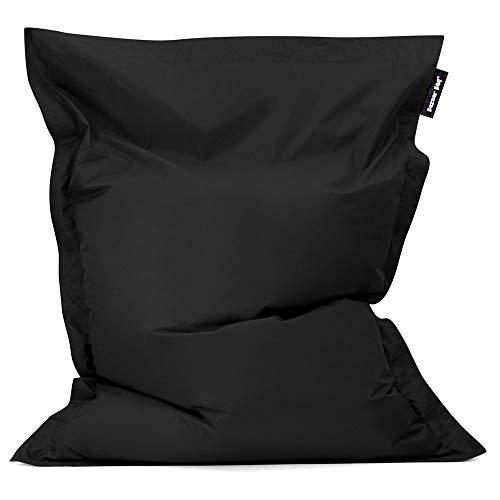 Bean Bag Bazaar Bazaar Bag - Negro, 180cm x 140cm, Puf Gigante para In